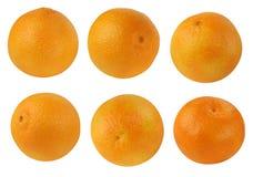 Clementinas, mandarinas aisladas en el fondo blanco Imagenes de archivo