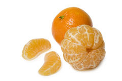 Clementine. Isolated on white background stock photos