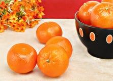 Clementine arancio sane e organiche Fotografia Stock