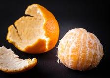 Clementine Citrus Fruit arancio sbucciata Fotografie Stock Libere da Diritti
