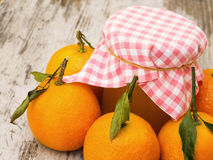 Clementine Jam with Fruit Royalty Free Stock Images