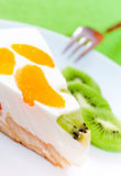 Clementine and kiwi Cake Stock Images