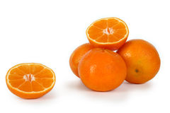 Clementine, mandarin or orange. Royalty Free Stock Photo