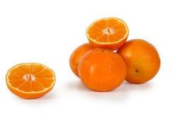 Clementine, mandarin of sinaasappel. Royalty-vrije Stock Foto