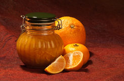 Clementine marmelade jar Stock Image