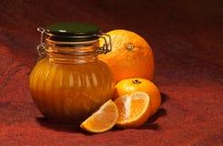 Clementine marmelade jar Stock Image