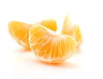 Clementine orange wedges Stock Photography