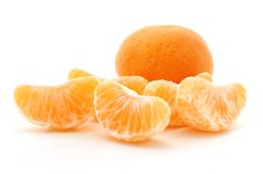 Clementine oranges over white background Stock Image