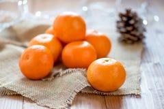 Clementine Tangerine fresca imagens de stock