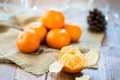 Clementine Tangerine fresca descascada foto de stock royalty free