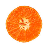 Clementine tangerine half isolated on white background Royalty Free Stock Images