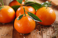 Clementine tangerine on the table Stock Photo