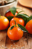 Clementine tangerine on the table Royalty Free Stock Photo