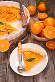 Clementine tart Stock Image