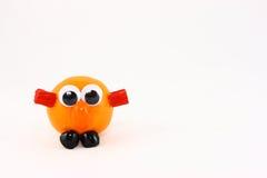 clementine twarz śmieszny jeden obraz stock
