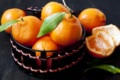 Clementines Basket Royalty Free Stock Image