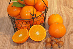 Clementines in a basket Royalty Free Stock Image