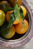 Clementines in een kom Royalty-vrije Stock Afbeeldingen