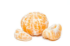 Clementines. Fresh clementines on white background Stock Images