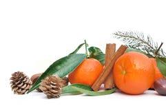 Clementines i cynamon zdjęcie stock