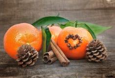 Clementines i pikantność fotografia stock