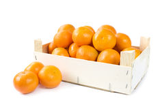 Clementines In Wooden Box Stock Photos