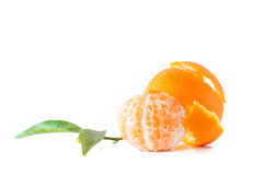 Clementines isolated Stock Photos