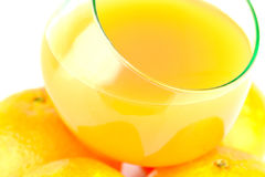 Clementines and juice Stock Image