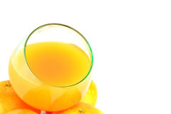 Clementines and juice Stock Photos