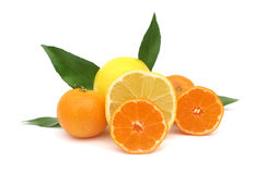 Clementines mandarin oranges and grapefruit Stock Photos