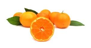 Clementines mandarynki pomarańcze Obrazy Royalty Free