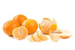 Clementines op wit royalty-vrije stock afbeeldingen