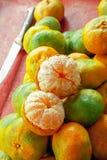 Clementines på en marknad i San Jose royaltyfri fotografi