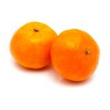 Clementines på en vit bakgrund Fotografering för Bildbyråer