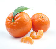 Clementines with segments Royalty Free Stock Photography