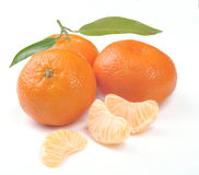 Clementines with segments royalty free stock image