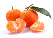 Clementines with segments Stock Photos