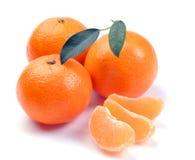 clementines segmenty Zdjęcia Royalty Free