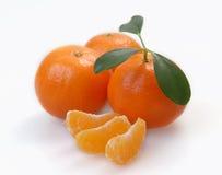 clementines segmenty trzy Fotografia Royalty Free