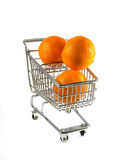 Clementines in Shopping Cart Stock Photo