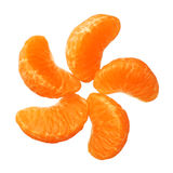 Clementines tangerines segments isolated on white background Stock Image