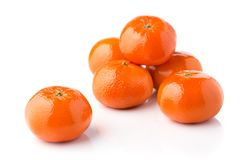 Clementines on white Royalty Free Stock Photos