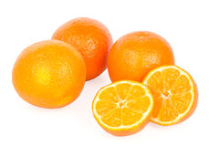 Clementines on white background Royalty Free Stock Image