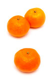 Clementines on a white background Royalty Free Stock Image