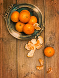 Clementines On Wooden Board Stock Photography