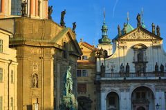 Clementinum, Old Buildings, Moldau, Old Town, Prague,  Czech Republic Royalty Free Stock Images