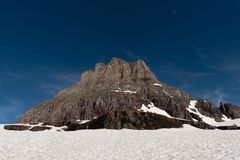 Clements Mountain and Snow Field royalty free stock photography