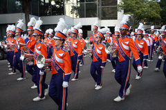 Clemson Marching Band in Gator Bowl Parade. Clemson Marching Band, Dec. 30 2008 Gator Bowl Parade Jacksonville Florida Stock Photos