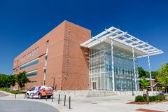 Wyatt Family Innovation Center at Clemson. CLEMSON, SC, USA - May 2: Wyatt Family Innovation Center at Clemson University on May 2, 2019 in Clemson, South royalty free stock photos