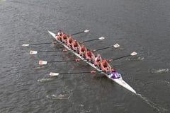Clemson Universitaire rassen in het Hoofd van het Kampioenschap Eights van Charles Regatta Women stock afbeeldingen